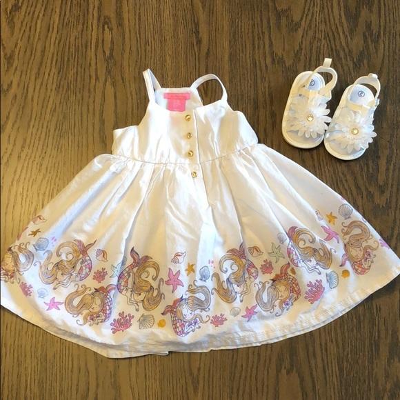 314bec4aef06 Isaac Mizrahi Dresses | White Mermaid Toddler Dress | Poshmark